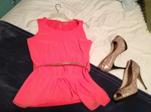 I hope to be pretty in pink and sassy in stilettos for the Ricki Lake Show, I do.