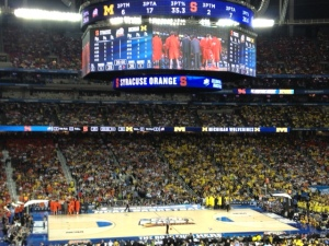 I saw my alma mater play in the Final Four at the Georgia Dome.